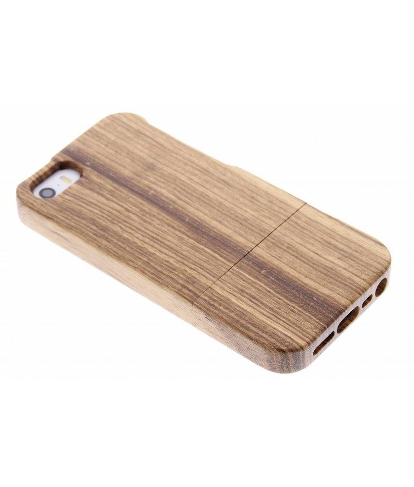 Echt Houten Backcover iPhone SE / 5 / 5s