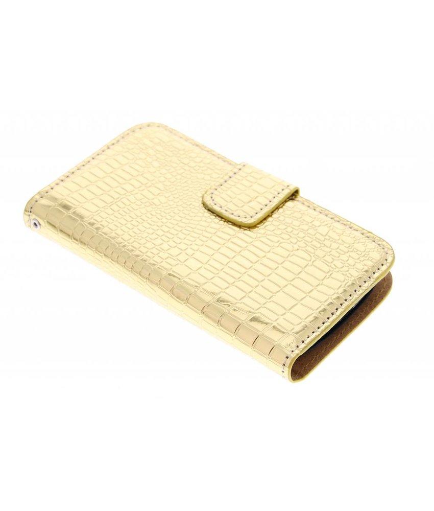 Metallic krokodil booktype hoes Samsung Galaxy S3 Mini