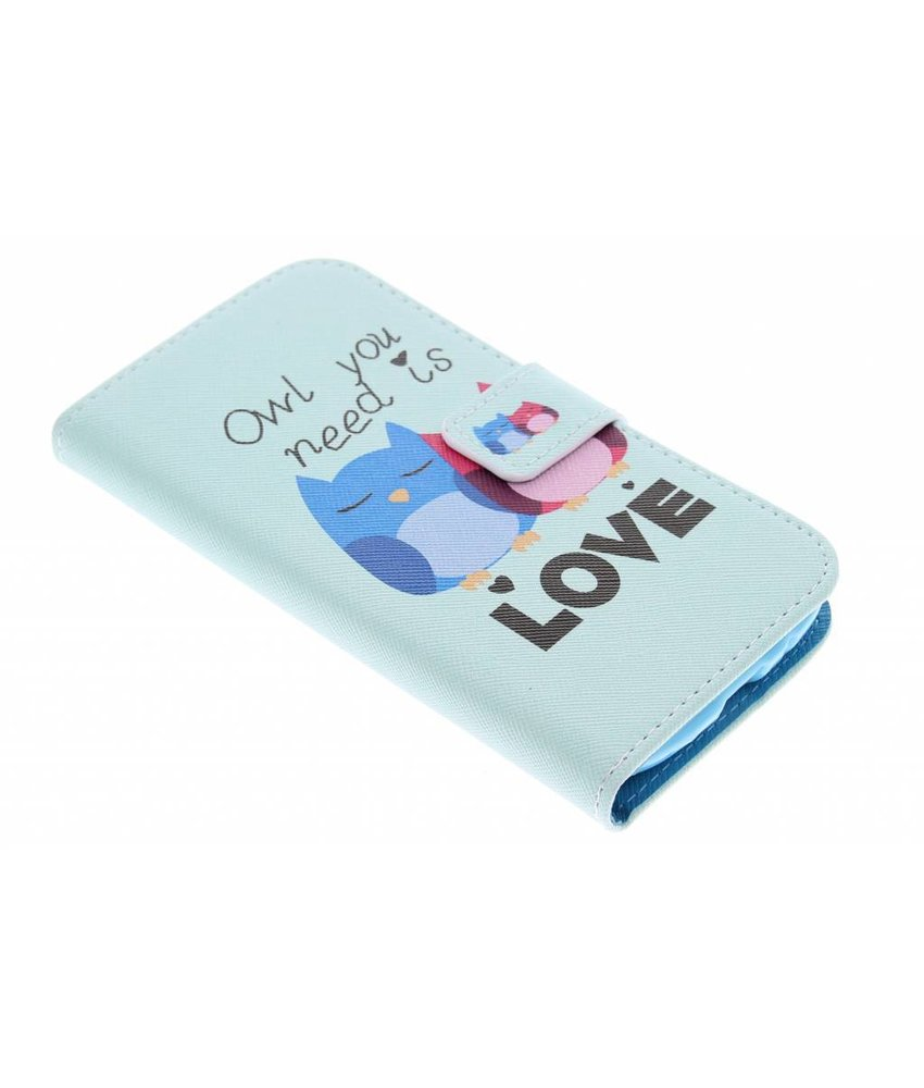 Design Softcase Booktype Samsung Galaxy S3 / Neo