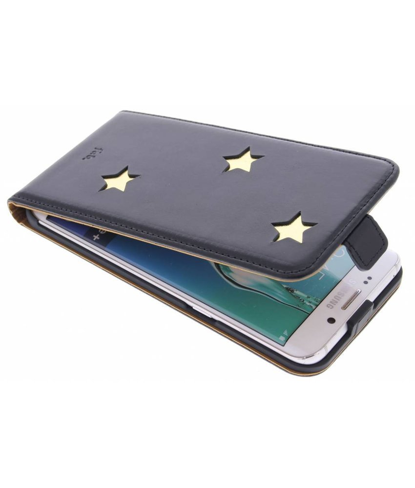 Fab. Gold Reversed Star Flipcase Galaxy S6 Edge Plus