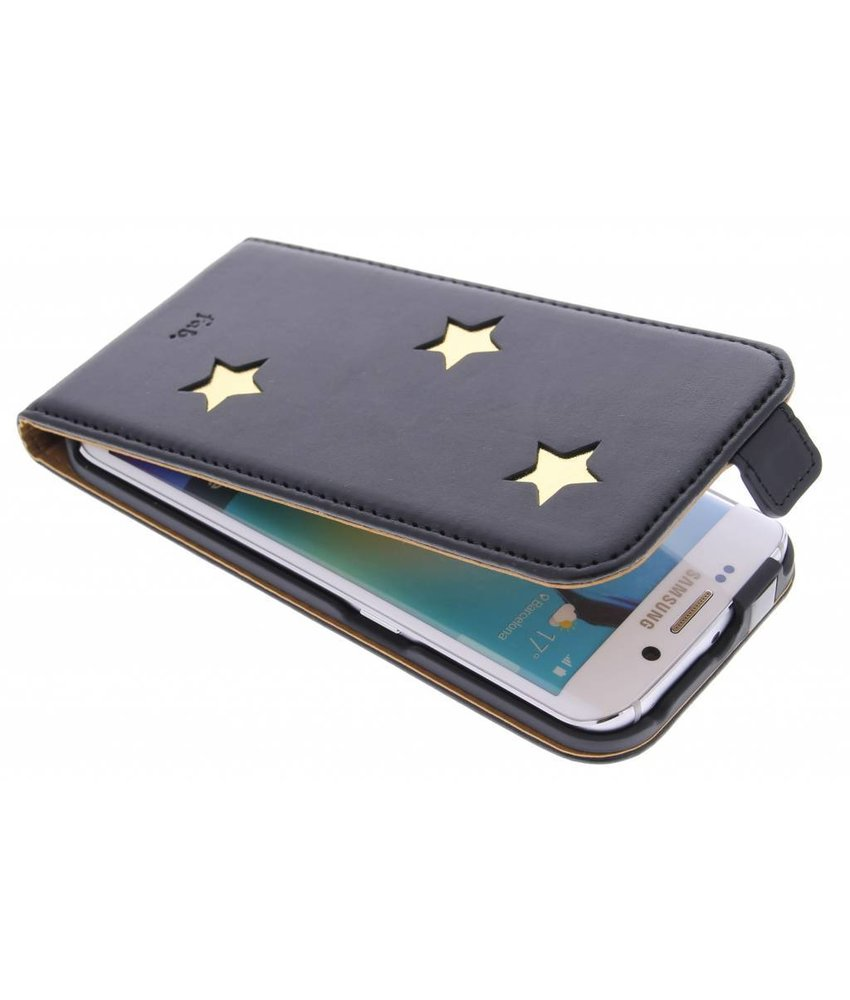 Fab. Gold Reversed Star Flipcase Samsung Galaxy S6 Edge