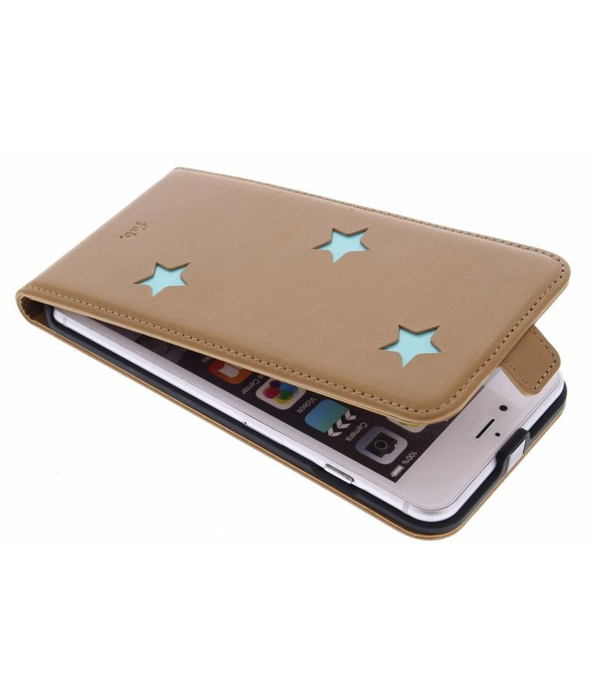 Fab. Aqua Reversed Star Flipcase iPhone 6(s) Plus