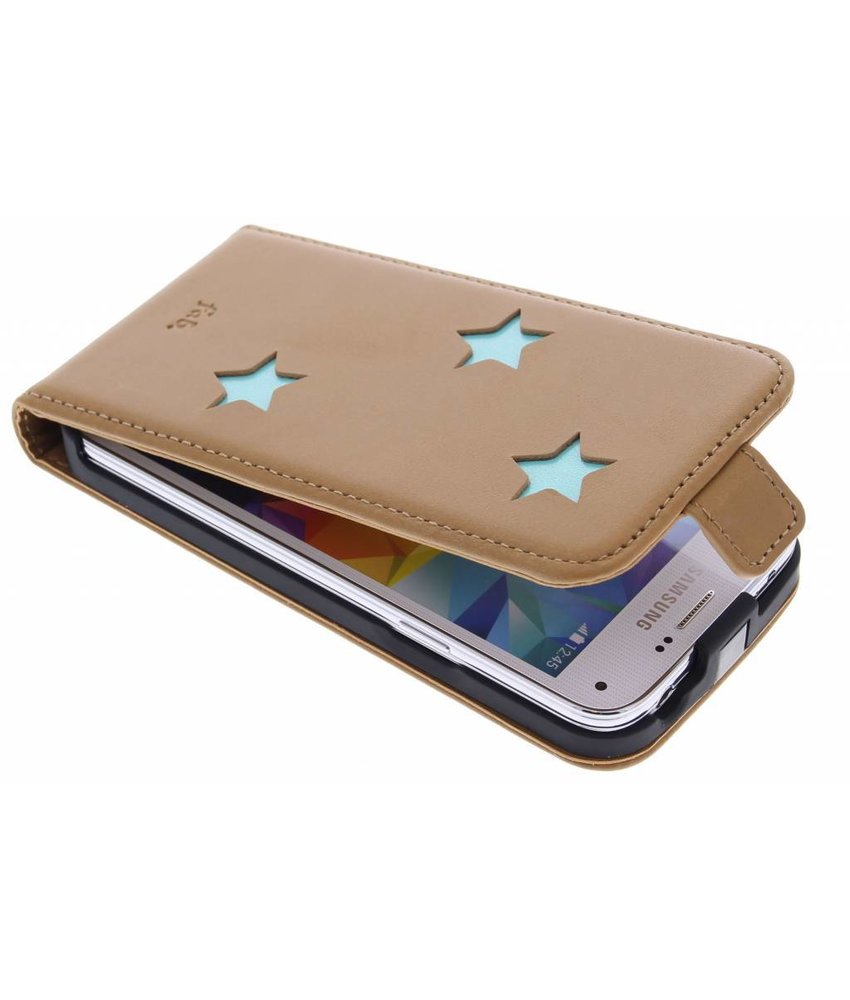 Fab. Aqua Reversed Star Flipcase Samsung Galaxy S5 Mini