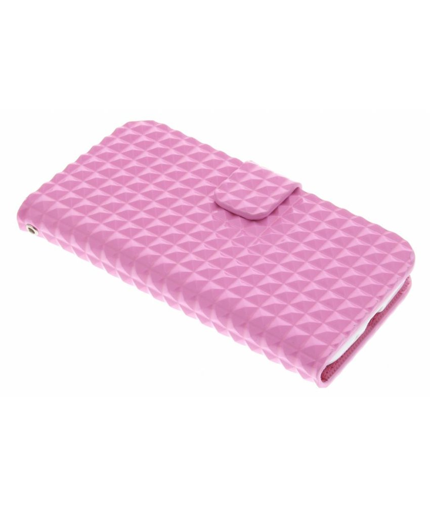 Roze TPU studs booktype hoes Samsung Galaxy S4