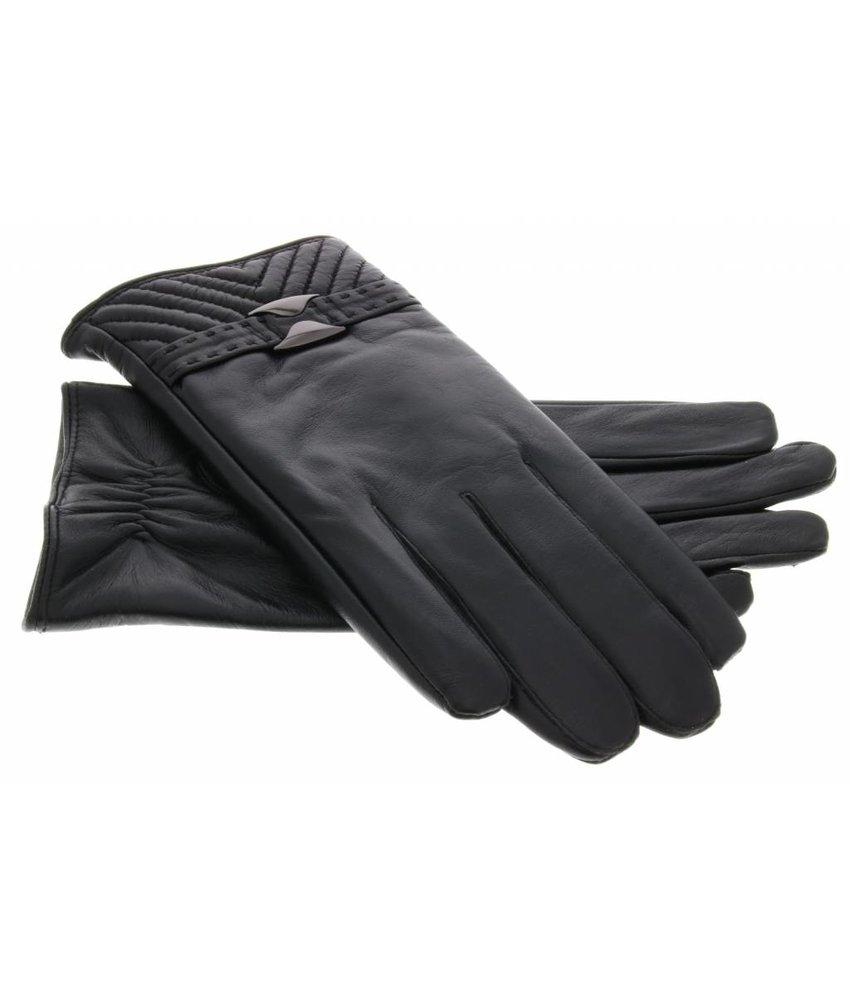 Echt lederen touchscreen handschoen - Maat XL