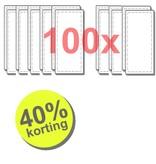 WTW 100 paar filters voor Renovent Bypass