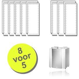 WTW 8 paar Excellent filters voor Brink Renovent