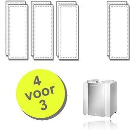 WTW 4 paar Excellent filters voor Brink Renovent