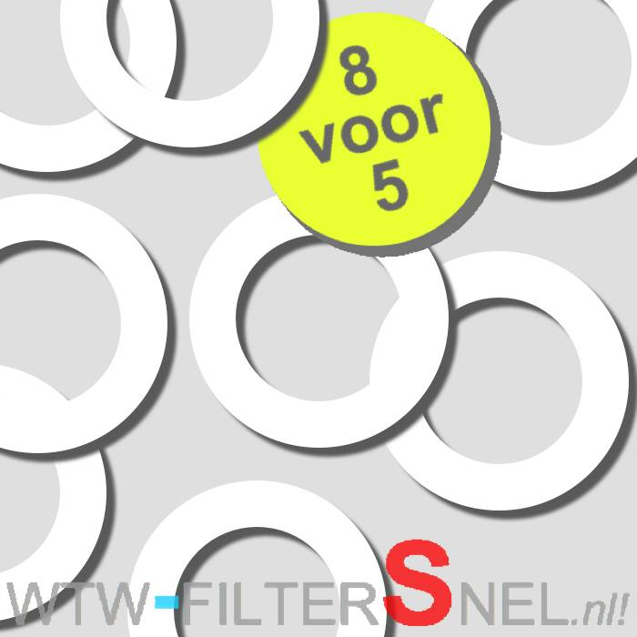 8 Afdichtringen tbv STK 100/125 Ventiel