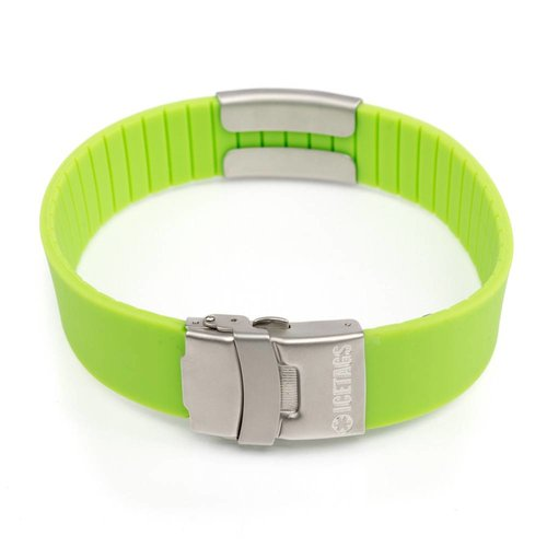 Icetags Safety ID bracelet Green