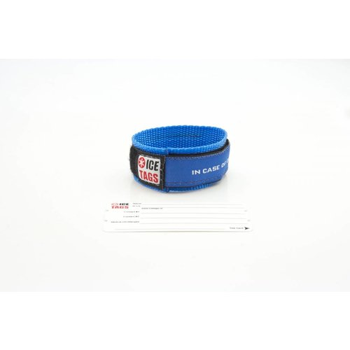 Nylon ID bracelet with card inside