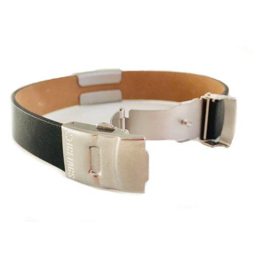 SOS armband medisch, zwart leer - SALE