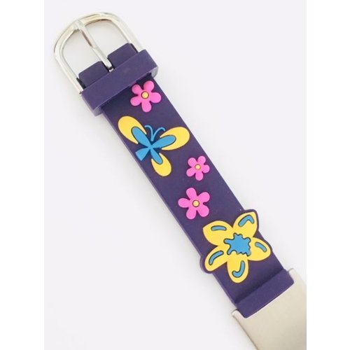 Icetags Purple butterfly name ID bracelet girls