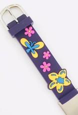 Medisch SOS bandje paars vlinders