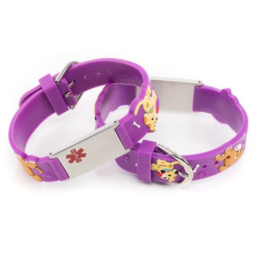 Medical emergency alert bracelet dogs