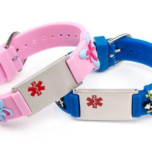 Children medical ID alert bracelets