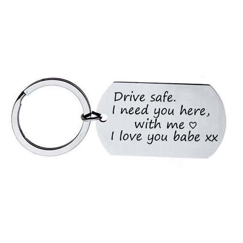 Icetags Sleutelhanger dogtag met text