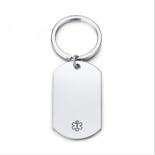 Icetags Medical keychain engraved