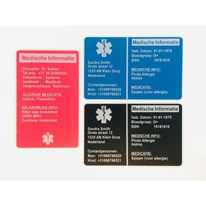 Icetags Medical ICE wallet card