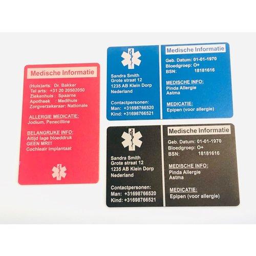 Icetags Medische noodkaart portemonnee