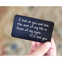 Aluminium card text