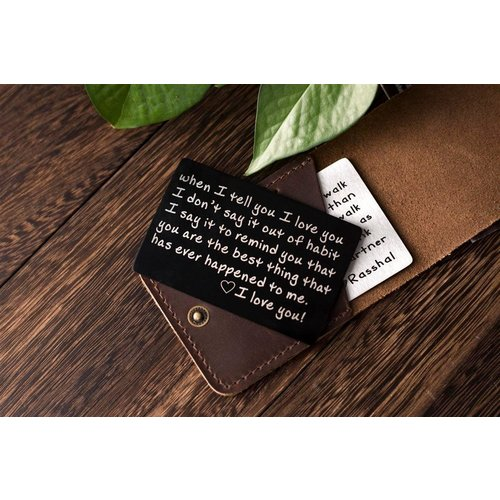 Icetags Aluminium card with personalized text