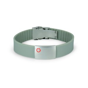 Icetags Medisch gegraveerde armband grijs