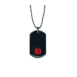 Icetags Medical necklace black