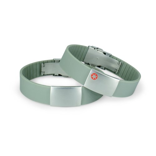 Icetags Medical ID bracelet red/blue/green band - Copy - Copy