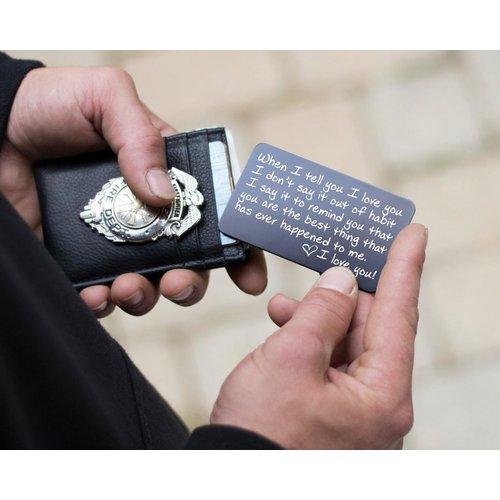 Medical information card for wallet