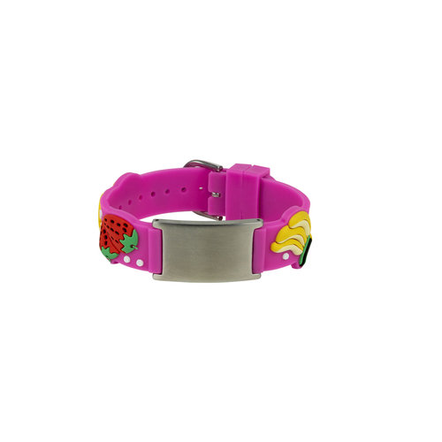 Icetags Fruity bracelet with engraved ID tag