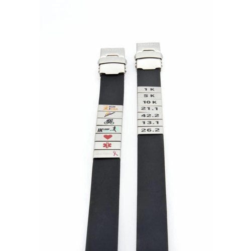 Icetags Volledig zwarte SOS armband
