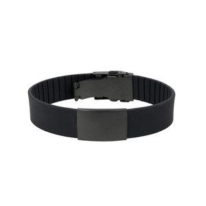 Icetags ID armband GEHEEL zwart