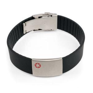 Icetags Zwarte medische armband