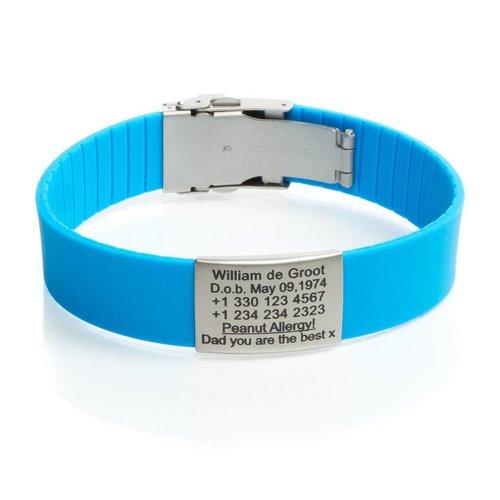 Icetags SOS armband Licht Blauw