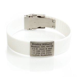 Icetags Sport ID bracelet White