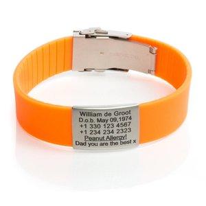 Icetags ID armband oranje