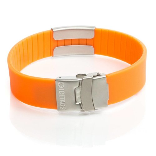 Icetags Run ID bracelet Orange