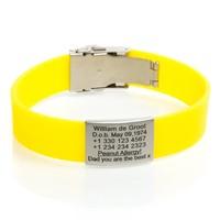 ID naam armband Geel