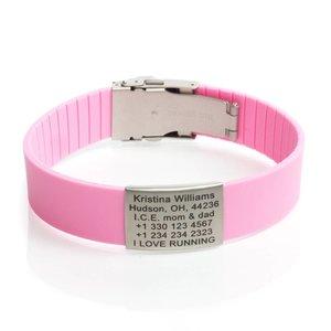 Icetags Sport ID Bracelet Pink