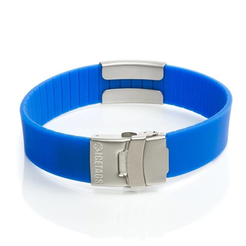 Icetags Emergency Alert ID bracelet ICEtags blue