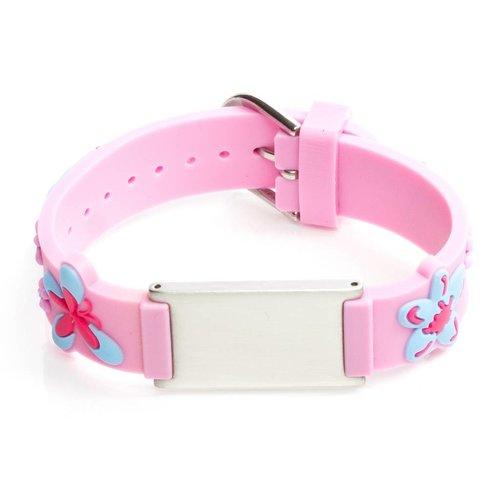 Safety ID bracelet children light pink
