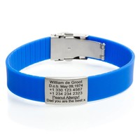 Identification bracelet blue