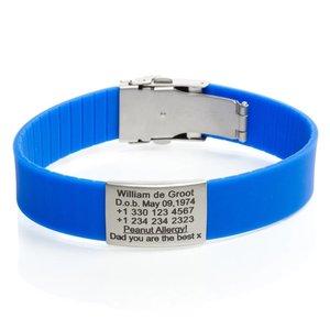 Icetags SOS armband Blauw
