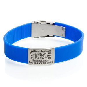Icetags SOS armband sporters Blauw
