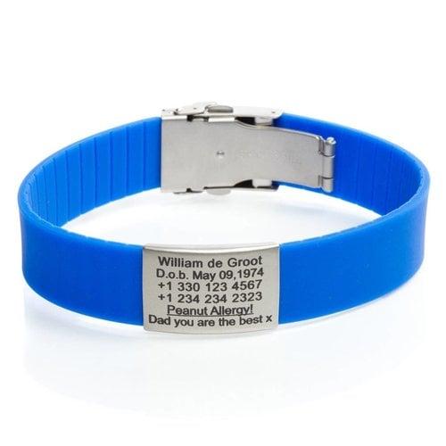 Icetags Emergency Alert ID bracelet ICEtags in blue