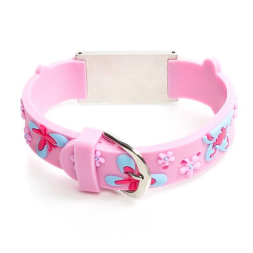 Icetags Medical allergy bracelet light pink