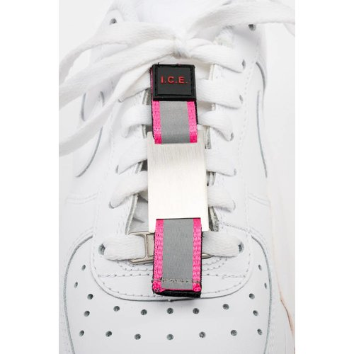 Icetags Shoe ID tag pink, Emergency tag shoe, Alert tag