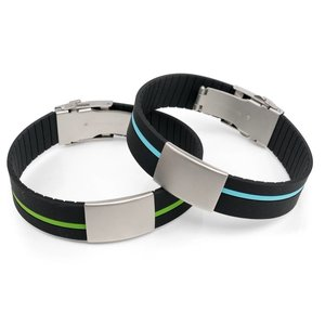 ID bracelet dual colors red/green/blue