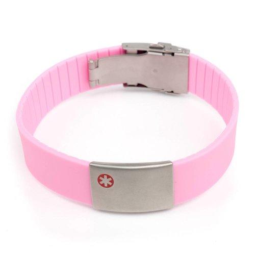 Icetags Medische armbanden roze